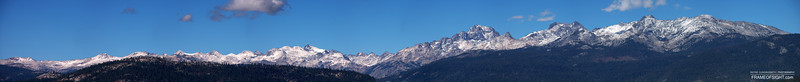 Hi Resolution view: http://gigapan.com/gigapans/141369 California Sierra Mountains behind Balloon Dome at sunrise