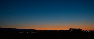 The Moon, Venus & Jupiter over Moffett Field on 7/18/2015